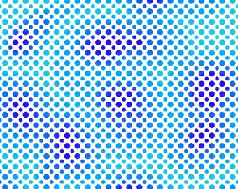 Quilting Treasures Fabric - Ombre Dots - Blue/Purple - Cotton fabric by the yard