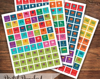 Planner & Calendar Stickers (Reminders, Events, Holidays, To Do's, Travel, School, Paying Bills)