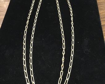 Vintage Chain, Goldtone, Long Chain