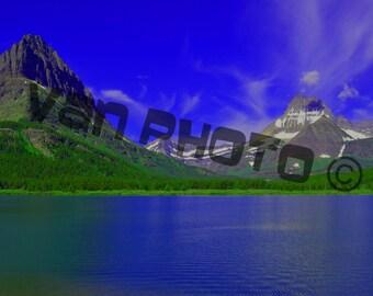 Canvas: Mountainside Glacier Park