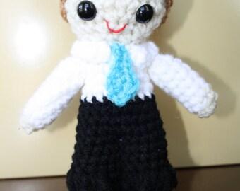 Baptism Boy Amigurumi Crochet Doll