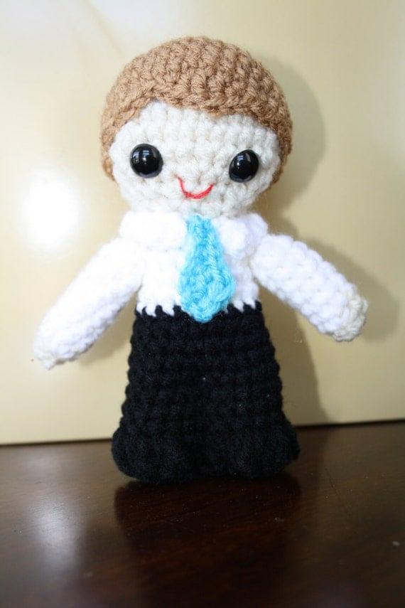 Amigurumi Boy Doll Pattern : Baptism Boy Amigurumi Crochet Doll