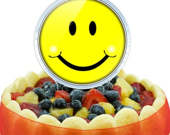 Happy Smiley Face Cake Top Topper