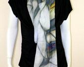 Silk Scarf, 12mm Chiffon, Top Silk,Fashion Art Scarf,Silk Chiffon, Hand rolled edge, Long Scarf, Summer Scarf, Gift For Her, Silk, Scarf,Art