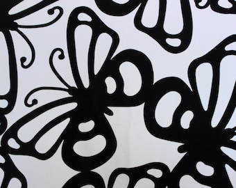Butterfly print Lycra/Spandex 4 way stretch Finish Fabric