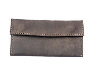 Hand Made Coco Leather Tobacco Pouch | Tobacco Wallet (Slim)