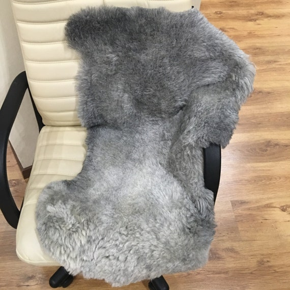 Fur Gray Rug: Gray Sheepskin Rug Fur Grey Rug Natural