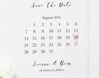 Save The Date | Calendar Style