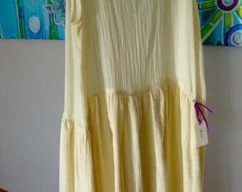 Gauze Dress Slip Eggshell White