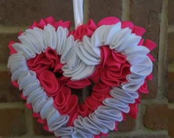 pink and white hanging heart