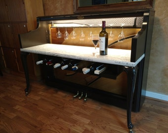 Repurposed / Upcycled Piano Wine Bar