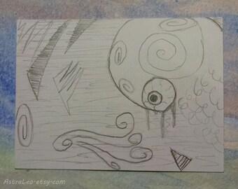 Insomnia | Original Art | Artist Trading Card | ACEO Illustration