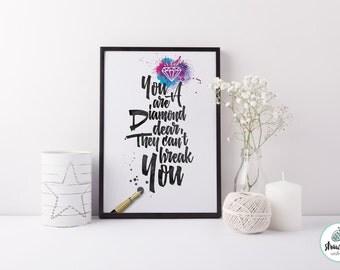 You are a diamond dear print