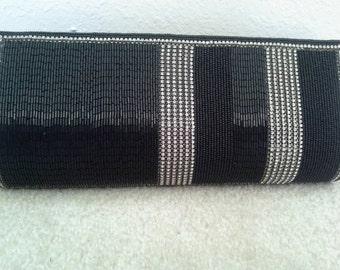 Black Beaded Bag