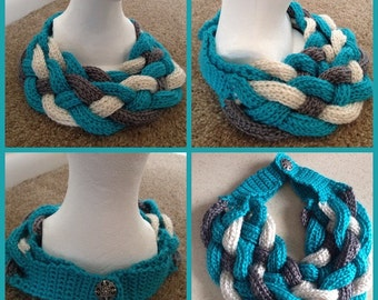 "Braided scarf ""Annaiis"""