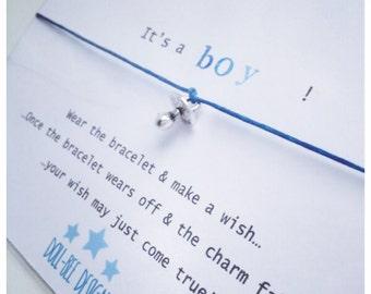 Wishing Bracelet 'It's a Boy!' Wish Bracelet Gift