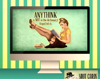 Desktop wallpaper, Vintage Retro Anythink not in the Dictionary, Computer background, iMac wallpaper screen, Laptop Wallpaper, PC Wallpaper