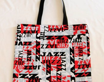 Jazz Print Tote Bag