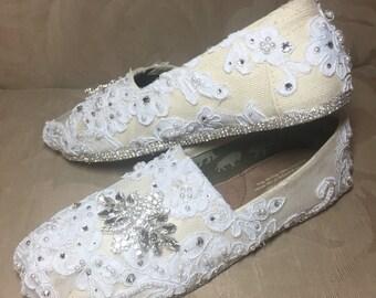 Women's TOMS Swarovski Wedding shoes