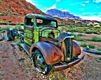 Truck at Lee's Ferry Arizona.