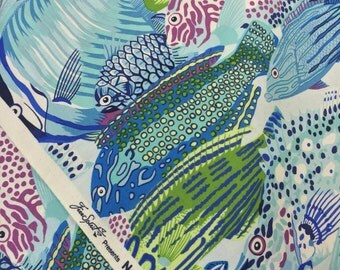 Fabric Art Fish Beach Ocean Reef -Natural World BY Phillip Jacobs for FreeSpirit 100% Quality Cotton Yardage