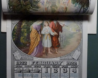 Calendar - W.B. Rose - 1922 Scripture Text Calendar - Thoughts for Daily Meditation