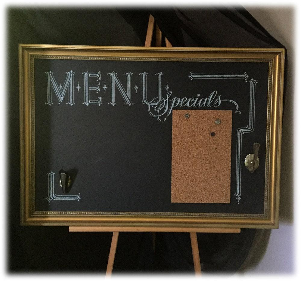 Large Chalkboard Kitchen Message Center Art Cork Board