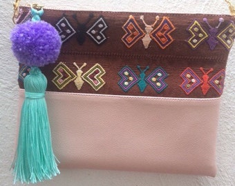 mexican hand embroidered  bag