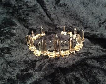 Smokey Quartz & Citrine Bun Crown