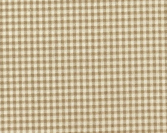 "72"" Round Tablecloth, Linen Beige Gingham Check"
