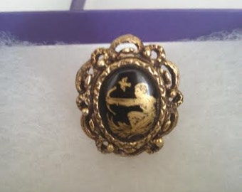 Gold and Black Archer Ring