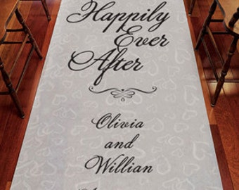 Personalized Happily Ever After Aisle Runner - (ppdjmadry6074)
