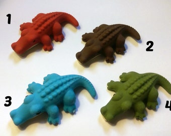 Alligator Erasers - Blue, Green, Brown, Red