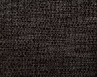 Linen natural - color: chocolate brown - 100% natural fiber - 0.5 m