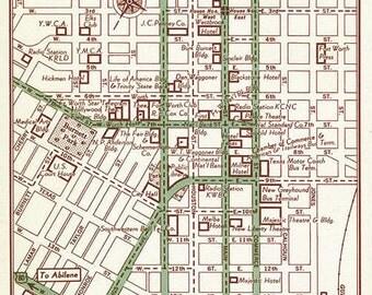 Fort Worth Map Art, Fort Worth Map Decor, Fort Worth Map Gift, Fort Worth Print, Fort Worth Wall Art, Fort Worth Texas Map, Texas Map Decor