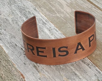 There is a Plan - Copper Cuff Bracelet