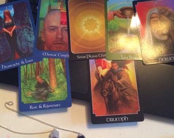 Psychic Tarot reading with pendulum