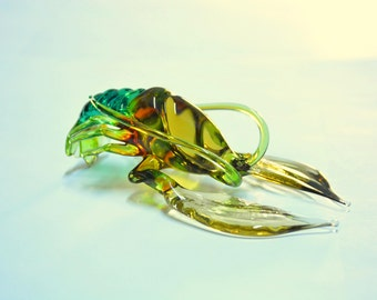Glass Crayfish Figurine