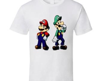 Super Mario And Luigi Video Game T Shirt