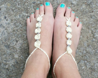 Barefoot Sandals Crochet Boho Beach Feet