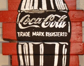 Wall art in Reclaimed timber: Soft drinks art - cheers Andy