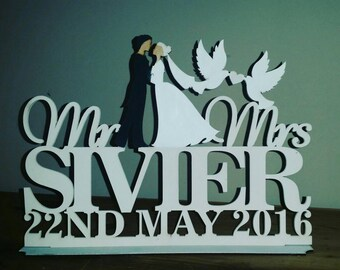Personalised plaque for the bride and groom