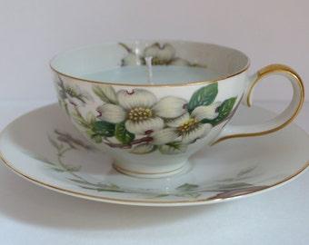 Dogwood Vintage Teacup Candle