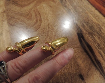 Gold tone Fake Nails, set of two