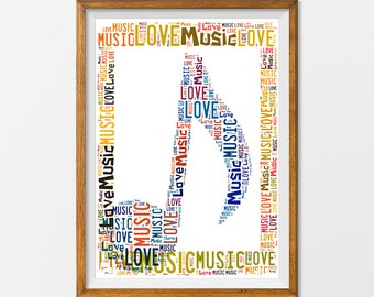 Music Note Print Art Note poster, Music Note Wall Art Music Decor