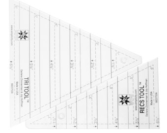 Tri-Recs Tools Triangle Rulers Acrylic Quilting Template