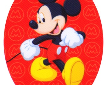 Disney's Mickey Mouse Red Iron On Applique