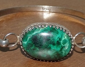 Sterling cuff bracelet with tourquoise stone