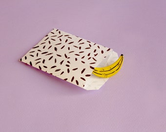 Brooch yellow banana