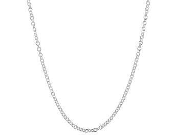 "Roller Chain 14K White Gold - 16.0"" (0.95gms.)"